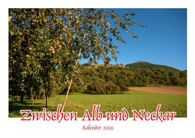 """Foto-Kalender """"Zwischen Alb und Neckar 2019"""""""