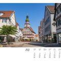 Rathaus und Marktstrasse in Kirchheim/Teck