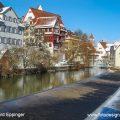 Riedlingen, Häuserzeile am Donauwehr