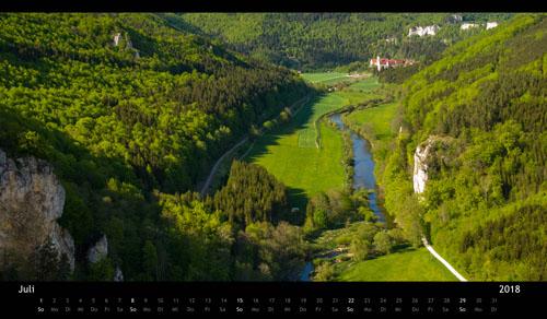 Panorama-Kalender Schwaebische Alb 2018